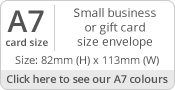 C7/A7 Envelope Sizes