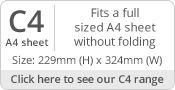 C4/A4 Envelope Sizes