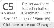 C5/A5 Envelope Sizes