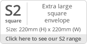 220mm Square Envelope Sizes