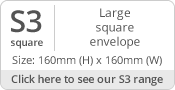 160mm Square Envelope Sizes