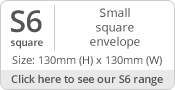 130mm Square Envelope Sizes