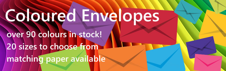 Coloured Envelopes & Papers