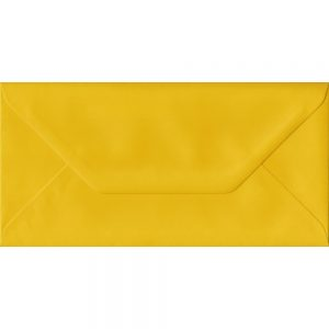100 DL Yellow Envelopes. Sunflower Yellow. 110mm x 220mm. 100gsm paper. Extra Value MultiPack.