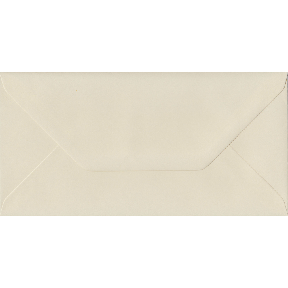 100 DL Cream Envelopes. Vanilla. 110mm x 220mm. 100gsm paper. Extra Value MultiPack.