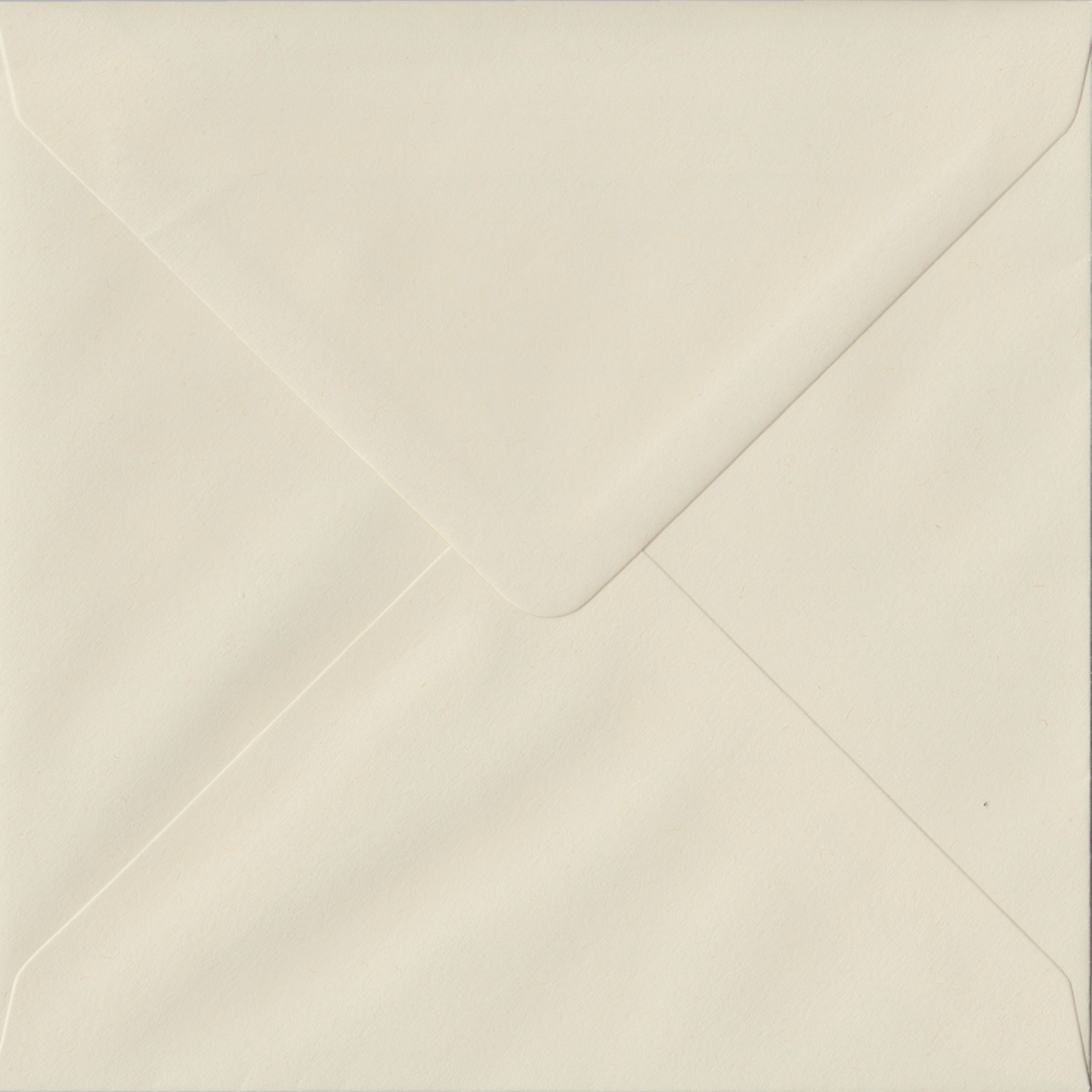 100 Square Cream Envelopes. Vanilla. 155mm x 155mm. 100gsm paper. Extra Value MultiPack.