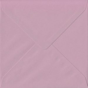 155mm x 155mm Vintage Pink Green Gummed Square 135gsm Envelope