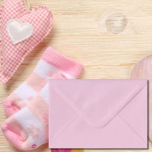 Luxury Baby Pink Envelopes