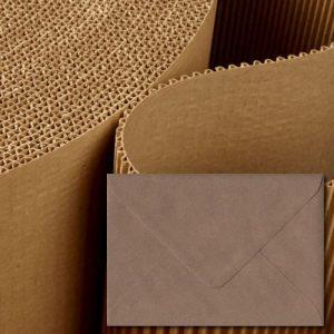 Brown Ribbed Envelopes