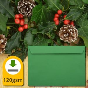 Holly Green Envelopes