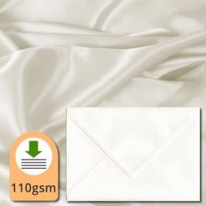 Ivory Silk Envelopes