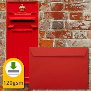 Pillar Box Red Envelopes