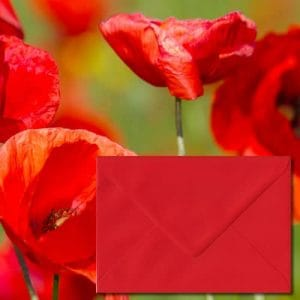 Poppy Red Envelopes