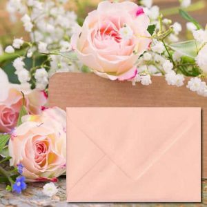 Salmon Pink Envelopes