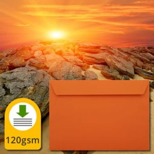 Luxury Sunset Orange Envelopes