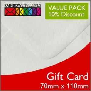 Gift Card Envelope Packs