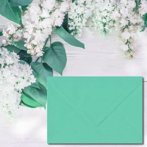 Warbler Green Envelopes