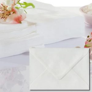 White Laid Envelopes