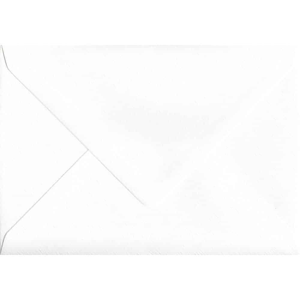 114mm x 162mm Alabaster White Gummed C6/A6 100gsm Envelope