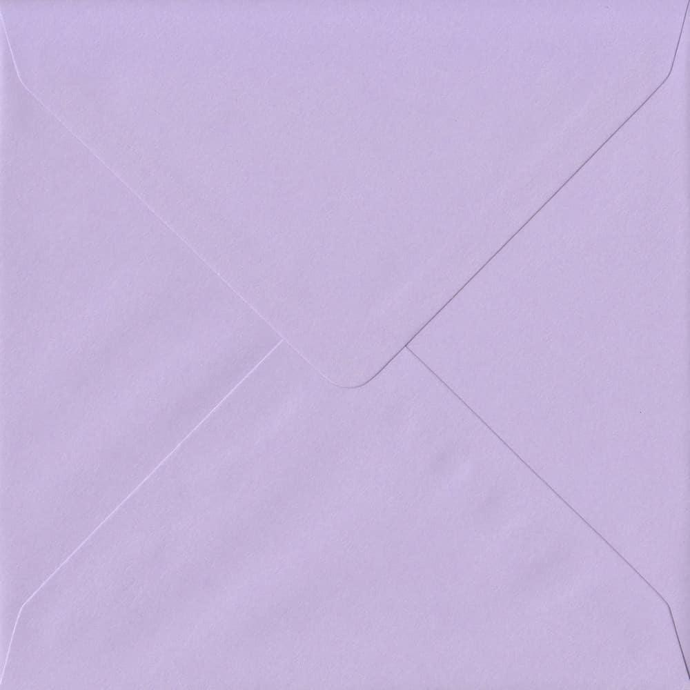 155mm x 155mm Amethyst Lilac Gummed Square 100gsm Envelope