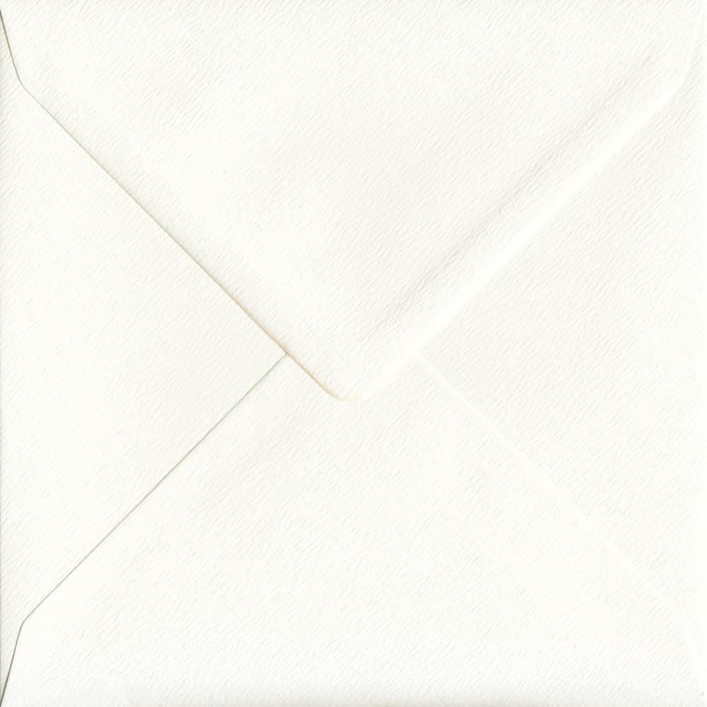 155mm x 155mm Antique Silk Ivory Gummed Square 100gsm Envelope