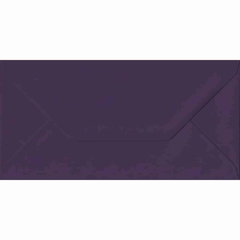 110mm x 220mm Aubergine Purple Gummed DL 135gsm Envelope
