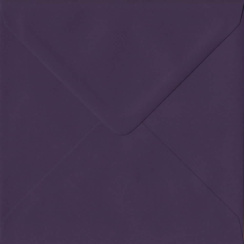 155mm x 155mm Aubergine Purple Gummed Square 135gsm Envelope