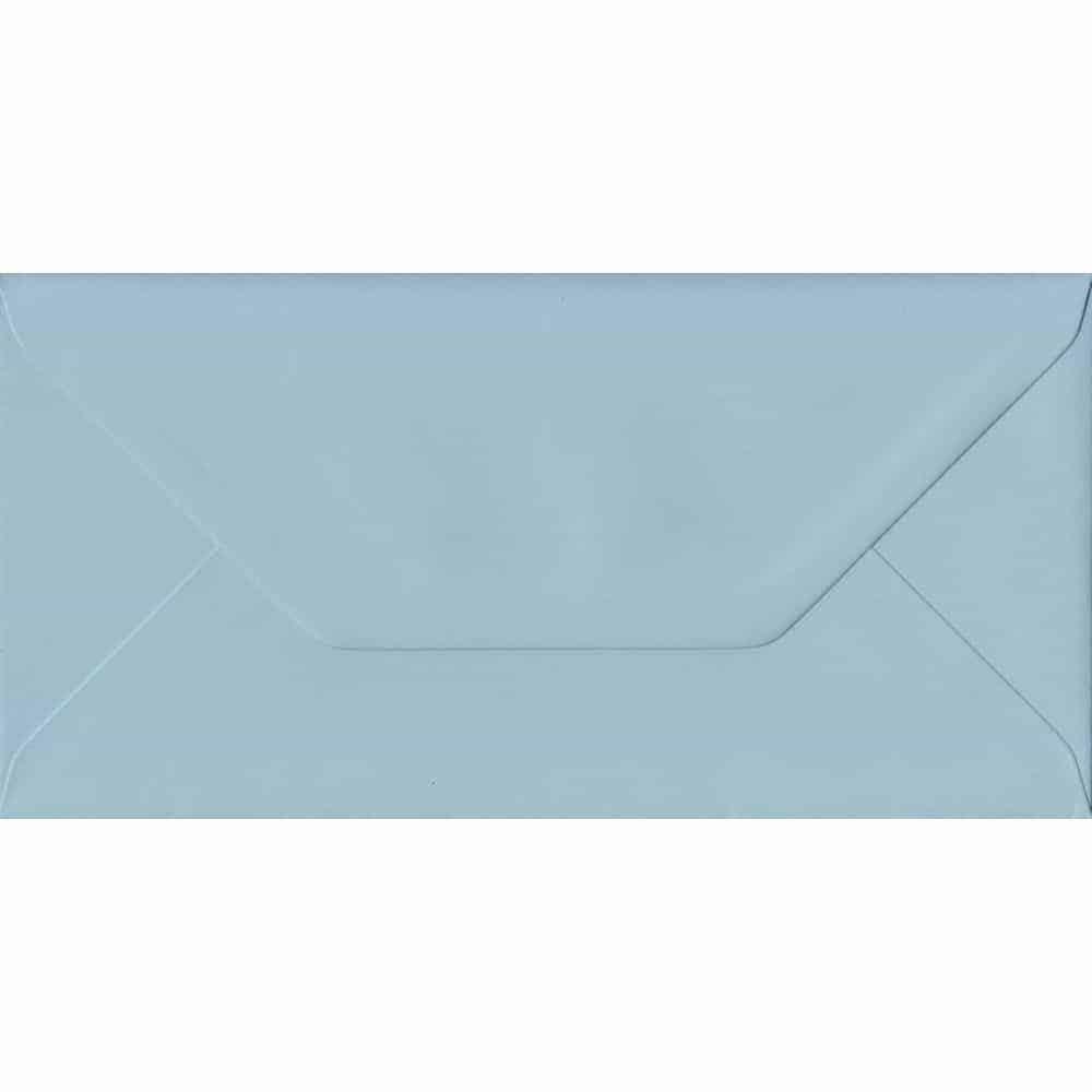 Baby Blue DL 110mm x 220mm Gummed Colour Business Envelopes