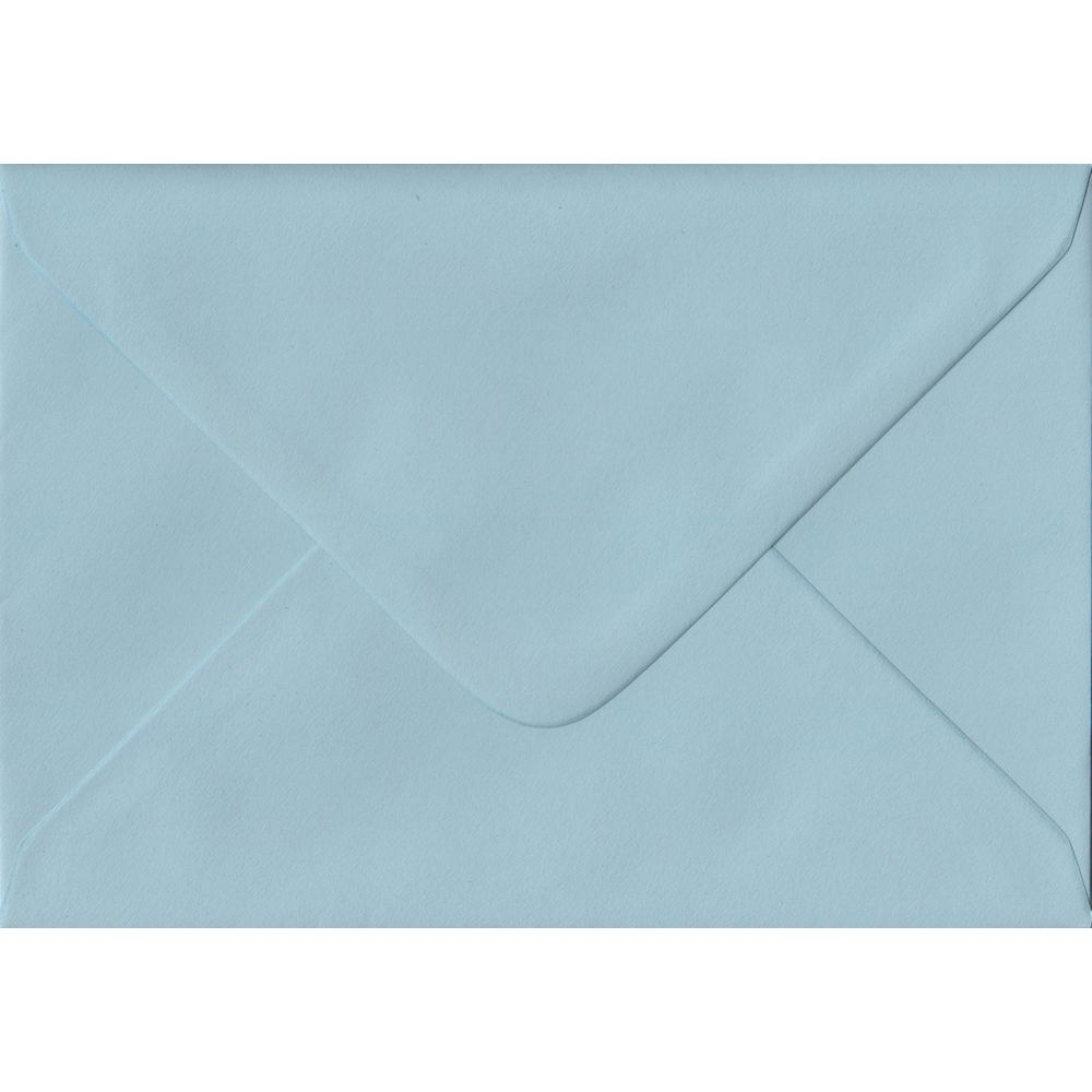 Baby Blue C6 114mm x 162mm Gummed Coloured A6 Card Envelopes