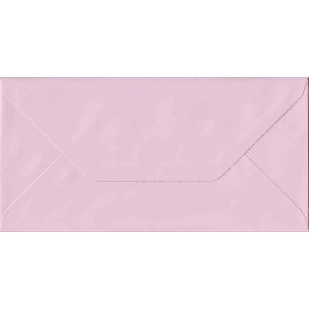 Baby Pink DL 110mm x 220mm Gummed Colour Business Envelopes