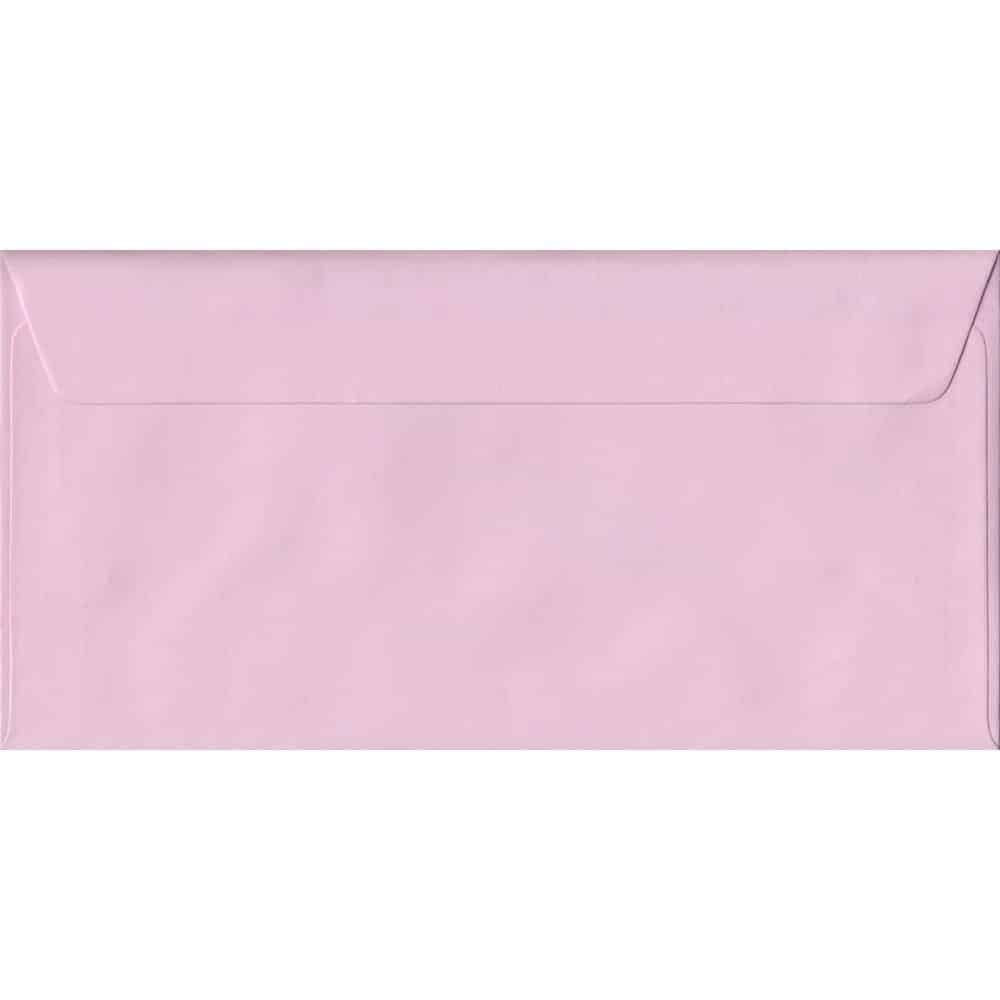 Baby Pink DL 110mm x 220mm Peel/Seal Colour Business Envelopes