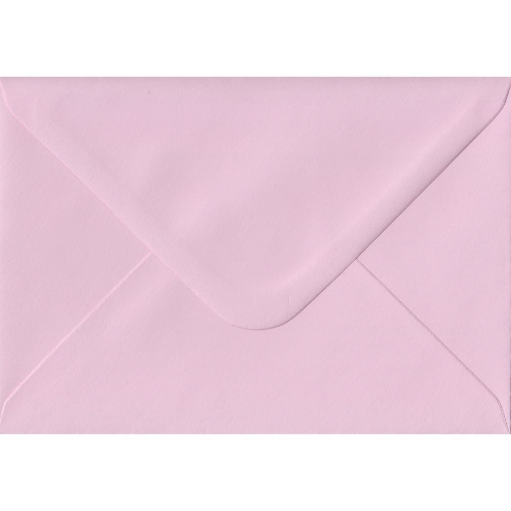 Baby Pink C6 114mm x 162mm Gummed Coloured A6 Card Envelopes