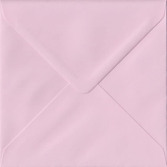 Baby Pink S4 155mm x 155mm Gummed Square Colour Envelopes
