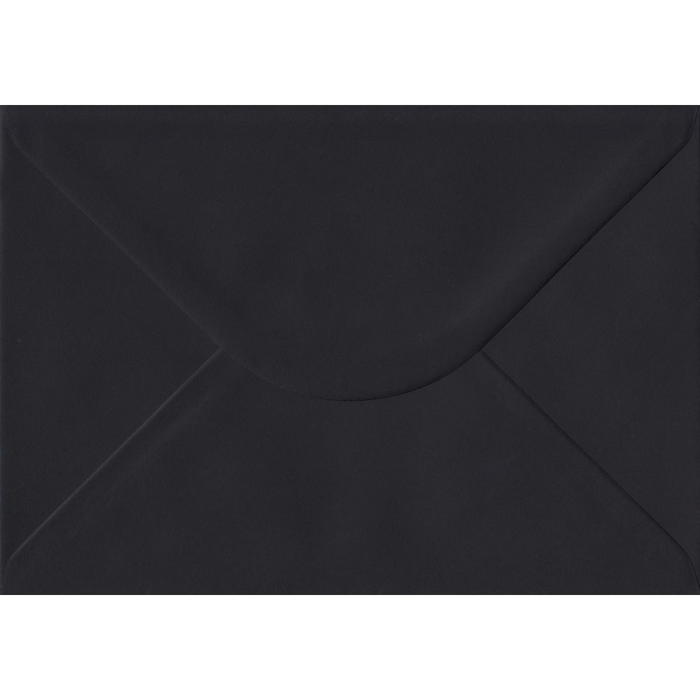 Black C5 162mm x 229mm Gummed A5 Size Colour Envelopes