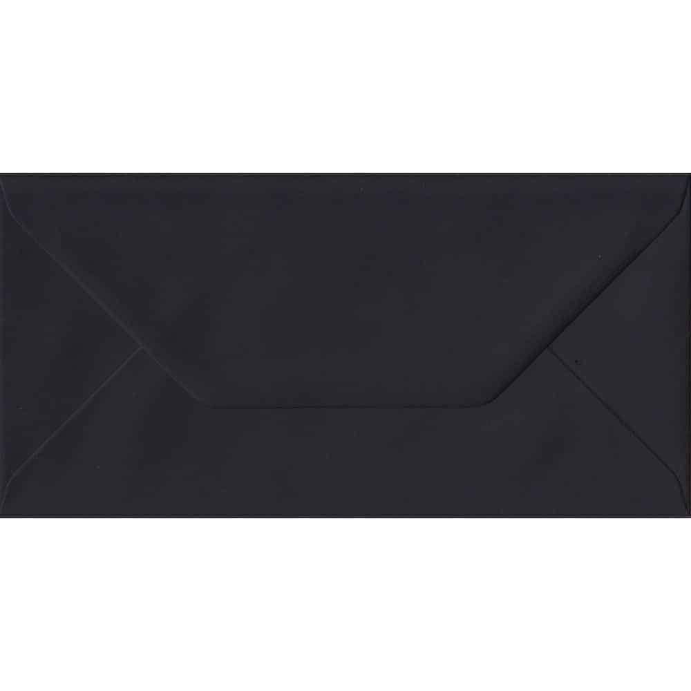 Black DL 110mm x 220mm Gummed Colour Business Envelopes