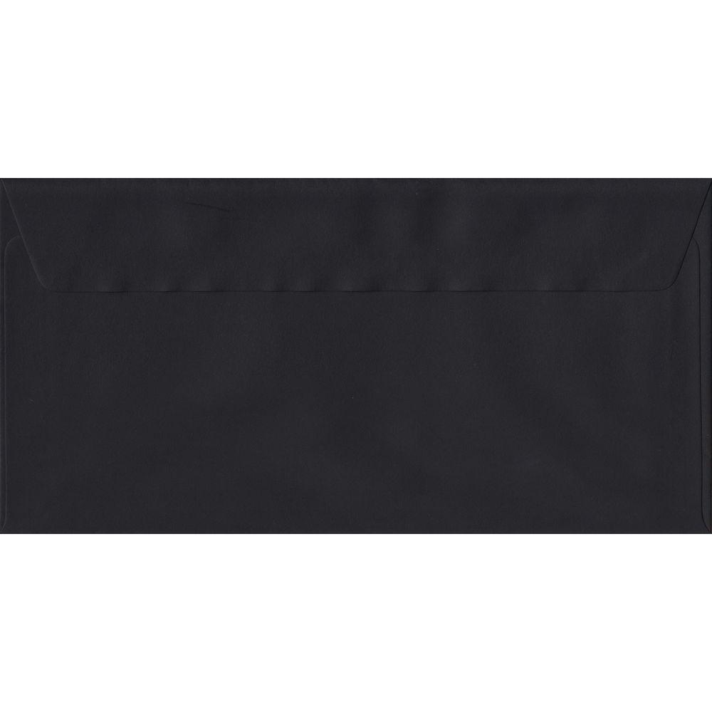 Black DL 110mm x 220mm Peel/Seal Colour Business Envelopes