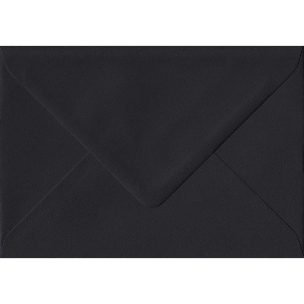 Black C6 114mm x 162mm Gummed Coloured A6 Card Envelopes