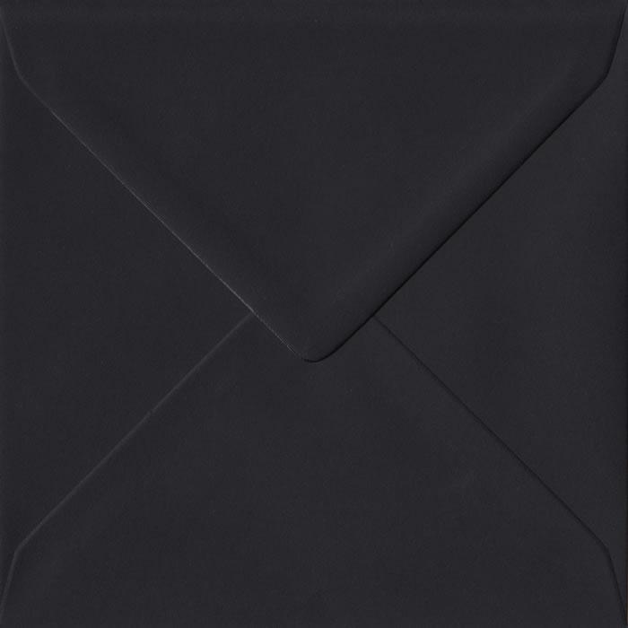Black S4 155mm x 155mm Gummed Square Colour Envelopes
