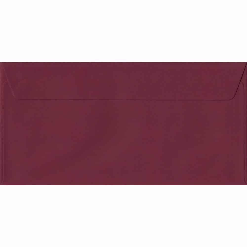 Bordeaux DL 110mm x 220mm Peel/Seal Colour Business Envelopes