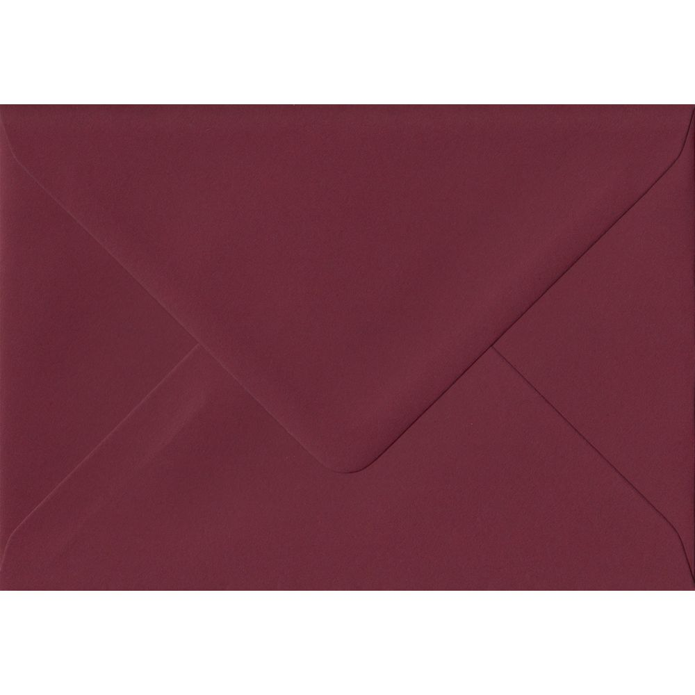Bordeaux 70mm x 110mm Gummed Colour Gift Card Envelopes