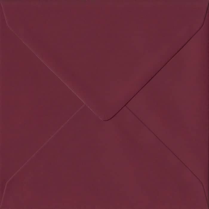 Bordeaux S6 130mm x 130mm Gummed Small Square Colour Envelopes