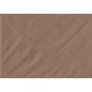 Brown Ribbed C5 162mm x 229mm Gummed A5 Size Colour Envelopes