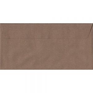 100 DL Brown Envelopes. Brown Ribbed. 110mm x 220mm. 100gsm paper. Extra Value MultiPack.