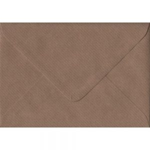 Brown Ribbed C6 114mm x 162mm Gummed Coloured A6 Card Envelopes