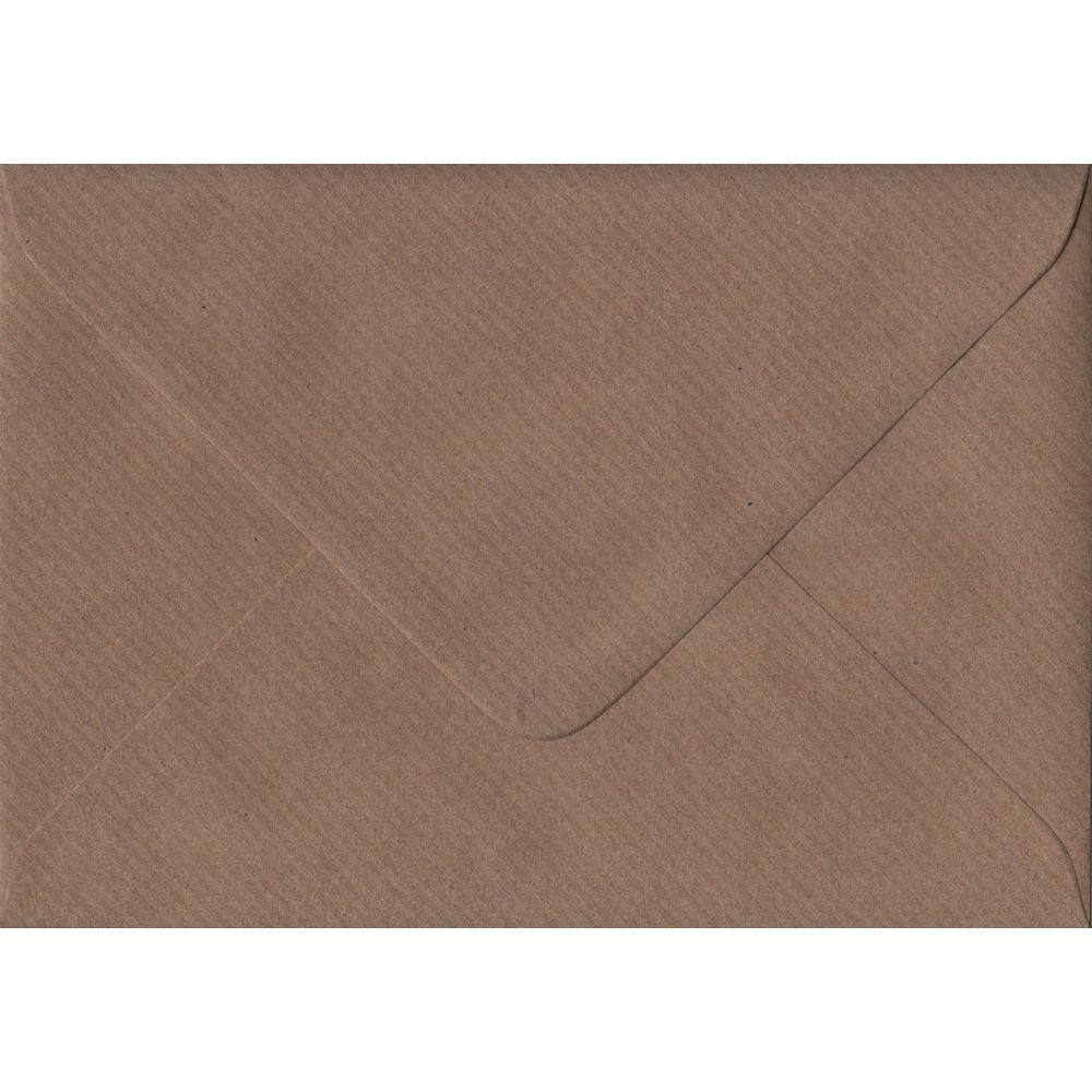 100 C6/A6 Brown Envelopes. Brown Ribbed. 114mm x 162mm. 100gsm paper. Extra Value MultiPack.