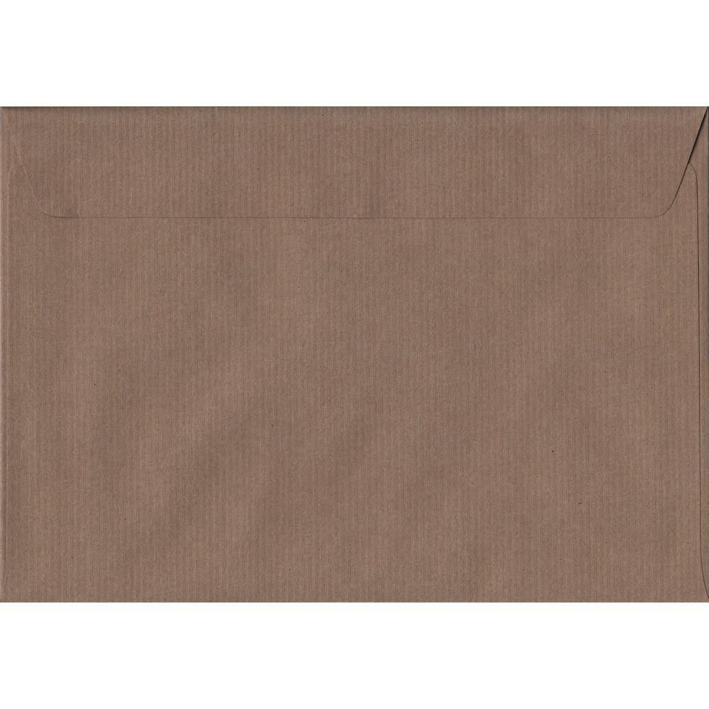 Brown Ribbed C5 162mm x 229mm Peel/Seal A5 Size Colour Envelopes