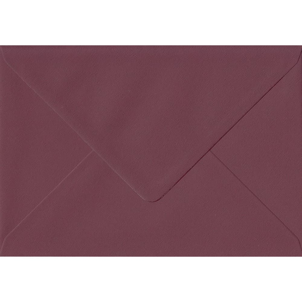 Deep Bordeaux Red 151mm x 216mm 120gsm Gummed A5 Envelope