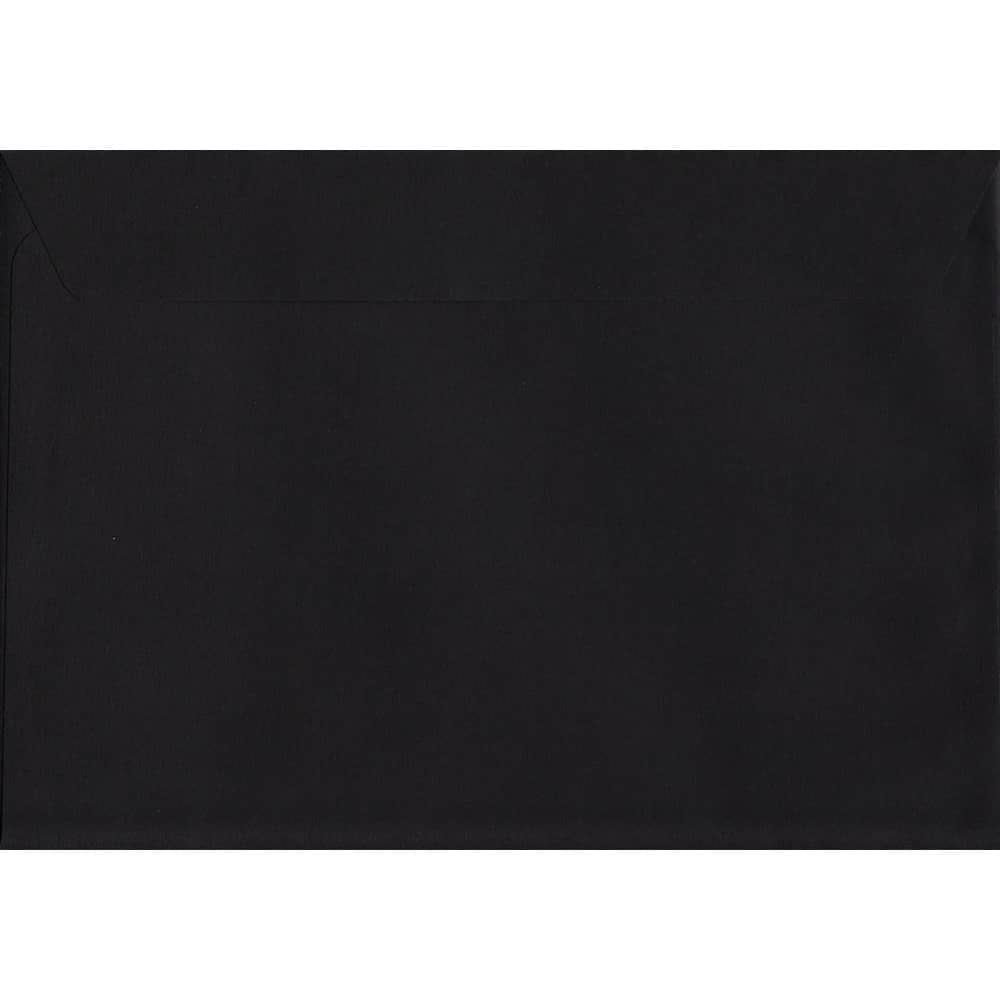 Premium Black C4 229mm x 324mm Peel/Seal C4 Colour Envelope
