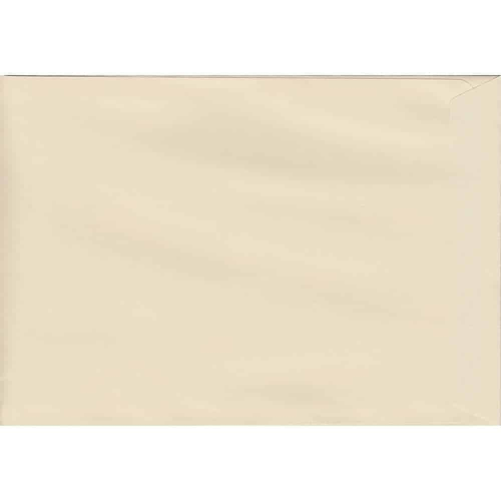 Pastel Clotted Cream C4 229mm x 324mm Peel/Seal C4 Colour Envelope
