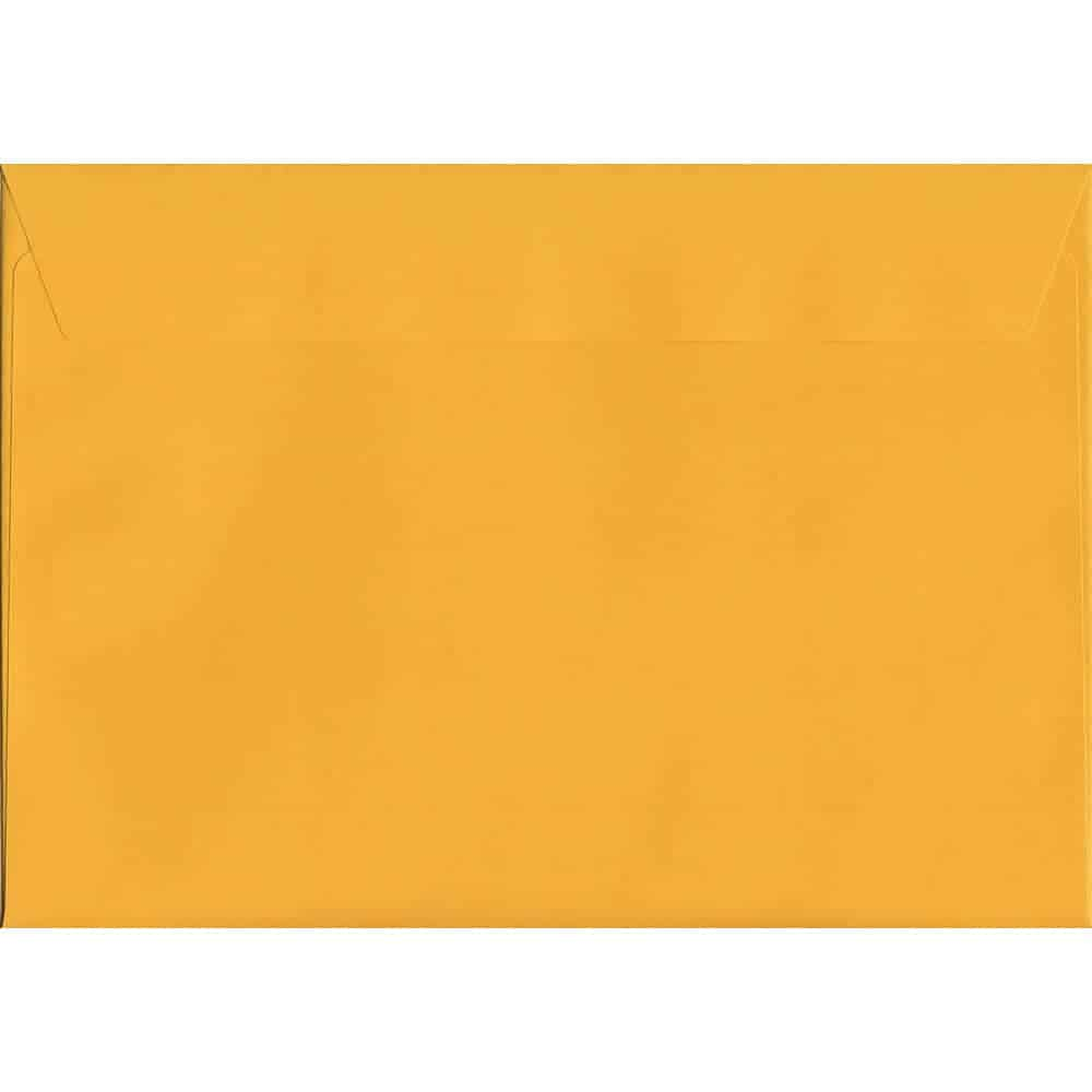 Vivid Golden Yellow C4 229mm x 324mm Peel/Seal C4 Colour Envelope